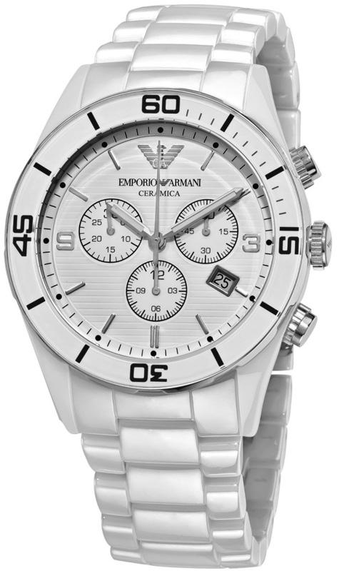 Наручные часы Armani Ceramic Chronograph Watch AR1424