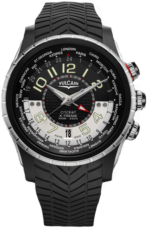 Наручные часы Vulcain Cricket X-Treme GMT 161925.165RF.BK
