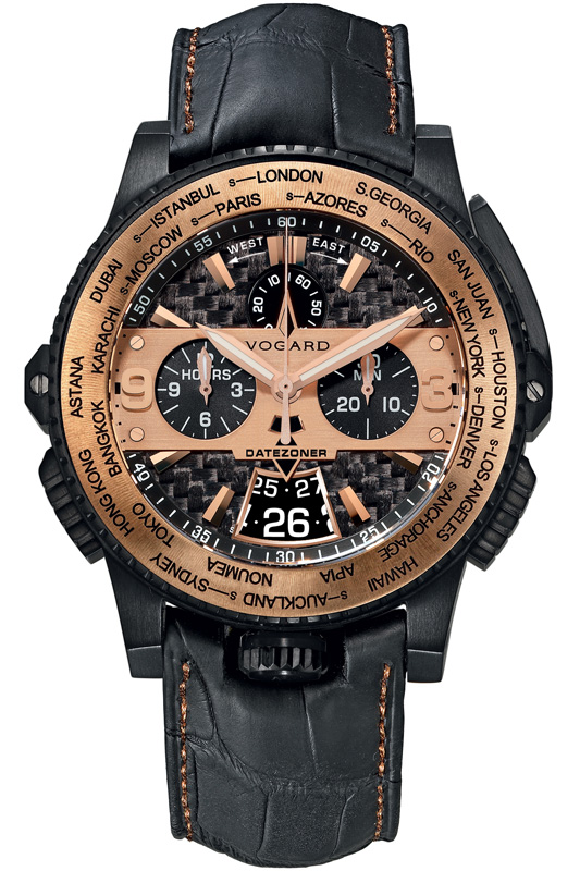 Наручные часы Vogard Titanium Datezoner 18kt Gold Edition DZ 6931