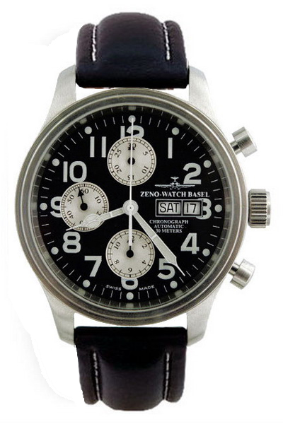 Наручные часы Zeno-Watch Basel Pilot Oversized Chrono 7750 9557TVDDD-SV