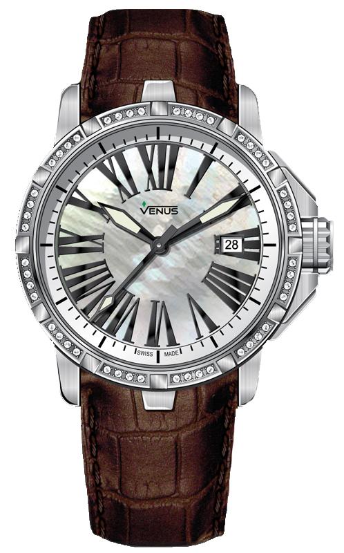 Наручные часы Venus Time-Date With Diamonds VE-1316B1-14-L4