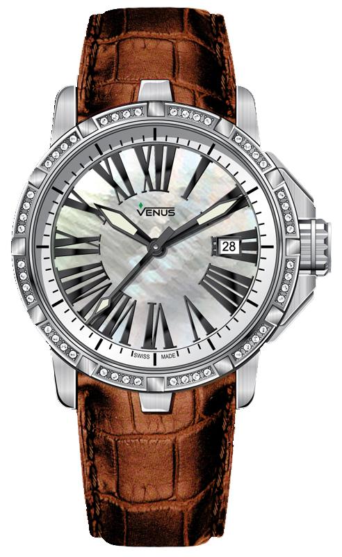 Наручные часы Venus Time-Date With Diamonds VE-1316B1-14-L6