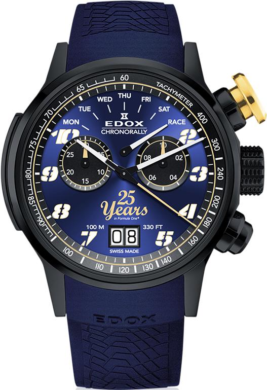 """Наручные часы Edox Chronorally Sauber F1 Team """"25th Anniversary"""" Limited Edition 38001 TINN2 BUB25"""
