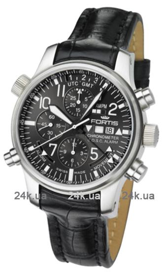 Наручные часы Fortis F-43 Flieger Chronograph Alarm GMT 703.10.81 LCF 01