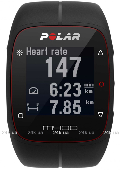 Спортивные часы Polar Бег M400 BLK HR