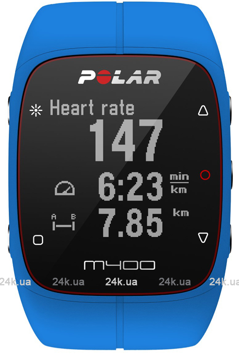 Спортивные часы Polar Бег M400 BLU HR