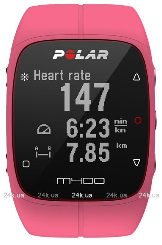 Спортивные часы Polar Бег M400 PNK HR