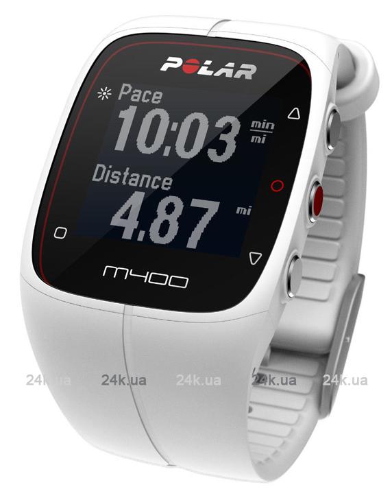 Спортивные часы Polar Бег M400 WHI HR