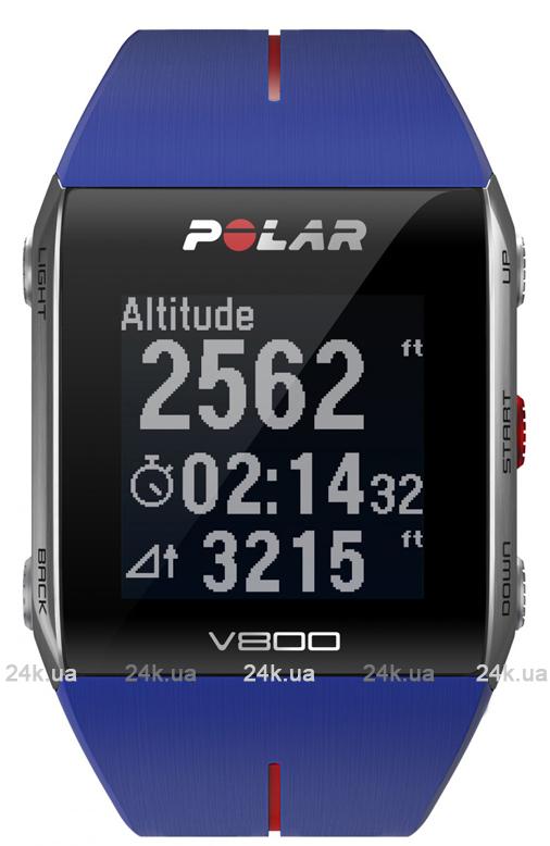 Спортивные часы Polar Бег V800 BLU