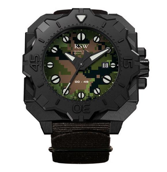 Наручные часы RSW Diving Tool Camo 7050.1.R1.95.00