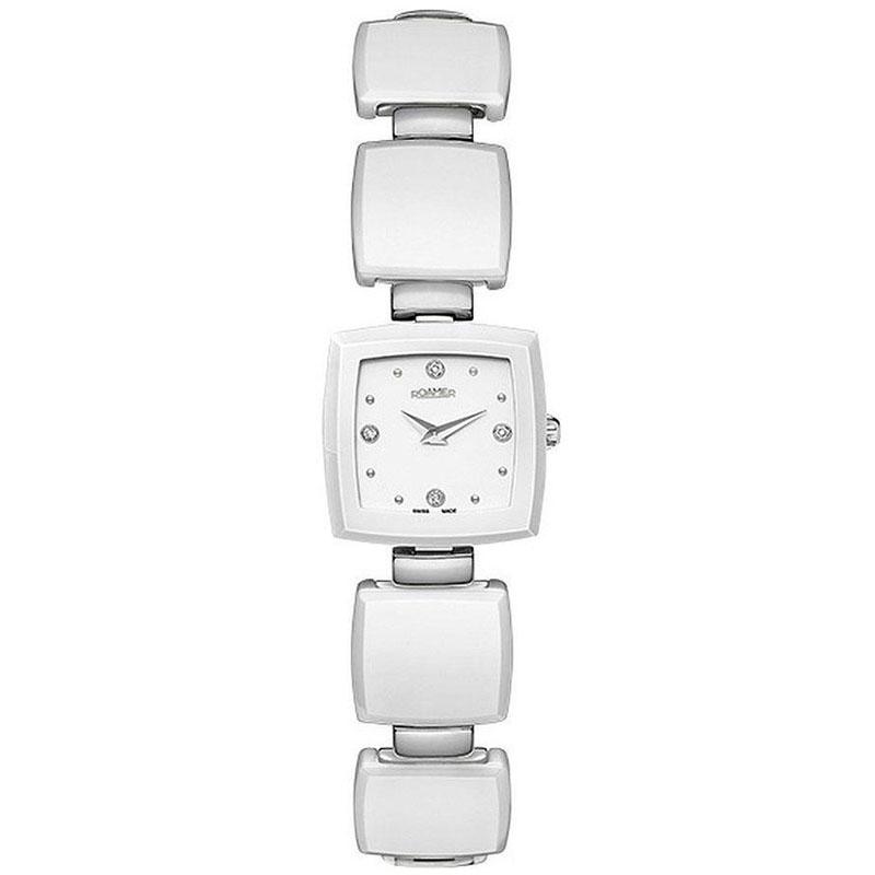 Наручные часы Roamer Ceramic Square Four Diamonds On Dial 682953.41.25.60