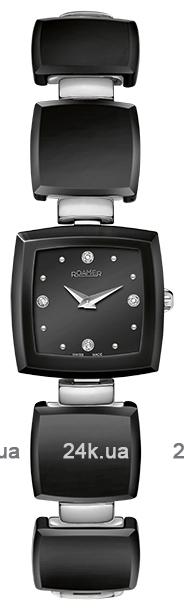 Наручные часы Roamer Ceramic Square Four Diamonds On Dial 682953.41.55.60