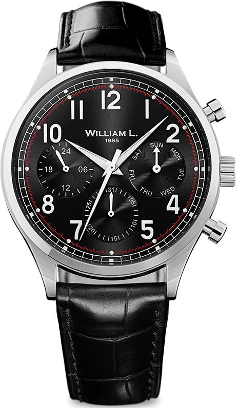 Наручные часы William L Vintage Style Calendar WLAC03NRCN