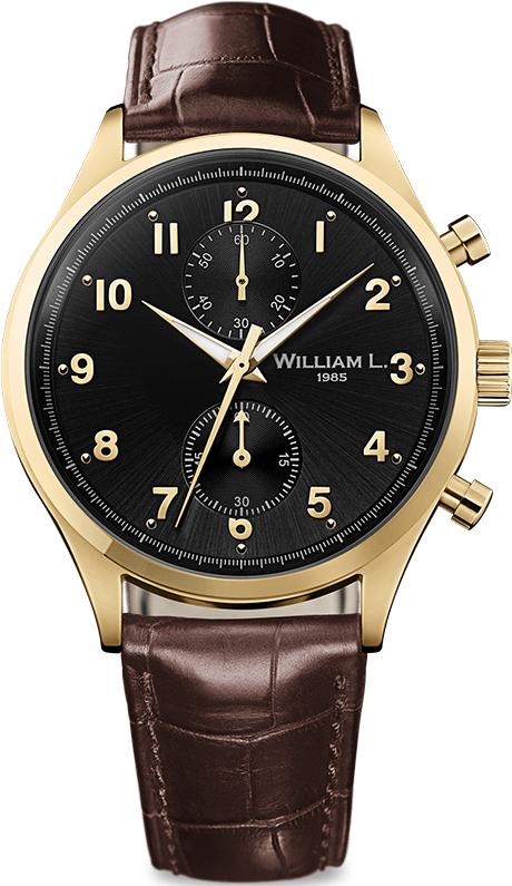 Наручные часы William L Vintage Style Small Chronograph WLOJ02NROJCM