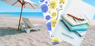 Лето - сезон путешествий открыт. Подарок - обложка к паспорту